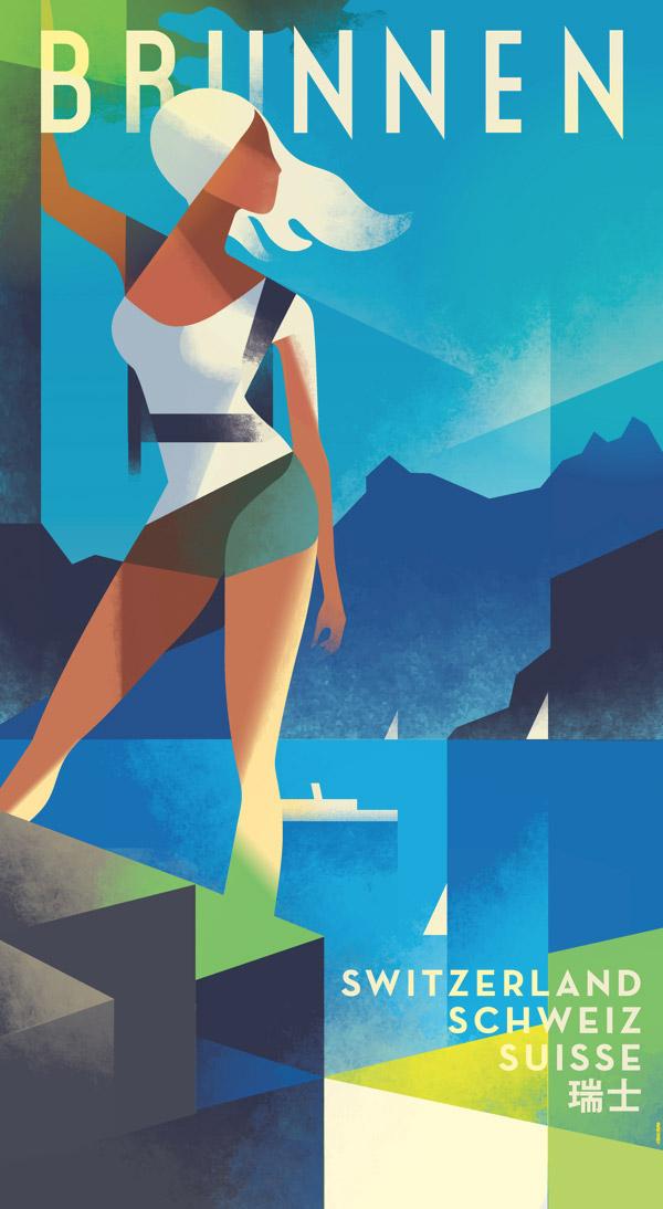 Brunnen Poster by Mads Berg