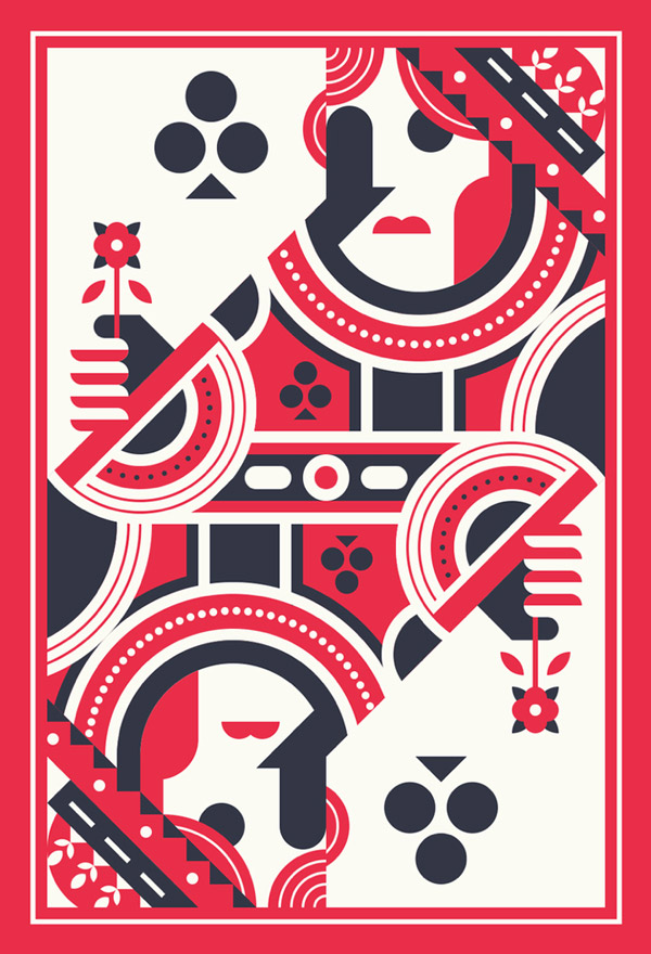 Queen of Clubs by Justin Messell
