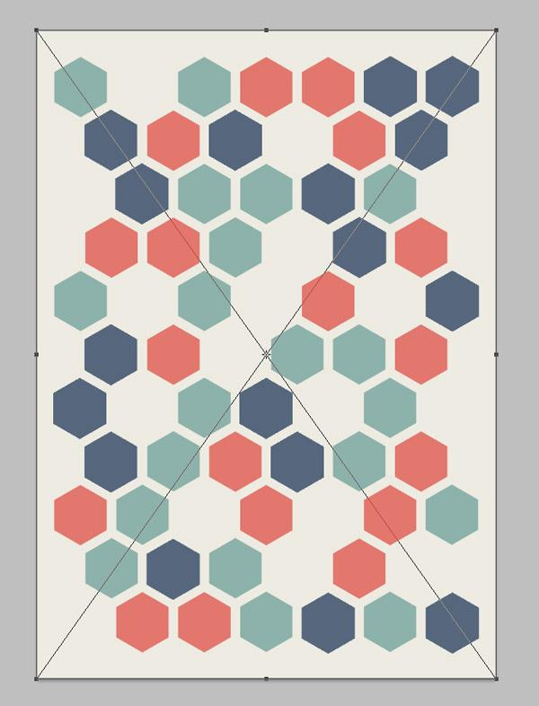 Cómo crear un diseño geométrico abstracto tipo panal con Illustrator