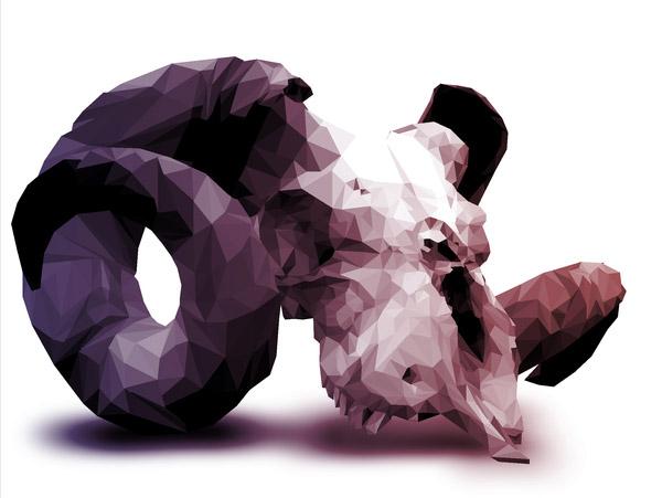 Halftone Polygons by Jesse Johanning