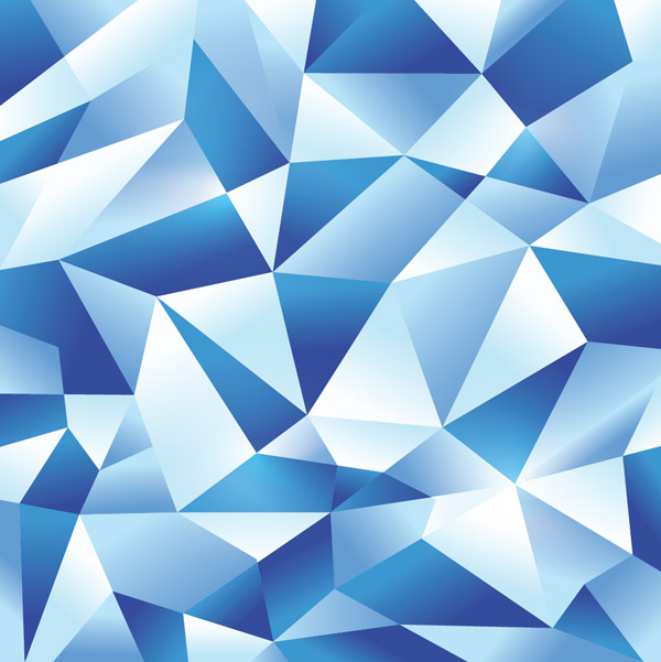 Icy polygonal geometric design