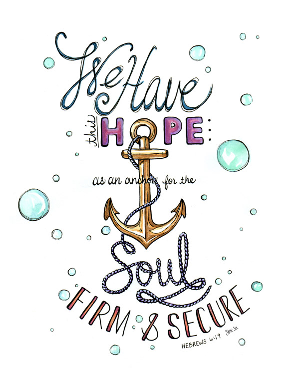 Hebrews 6:19 by Shannon Sutton