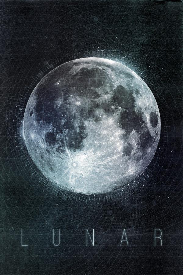Lunar poster design