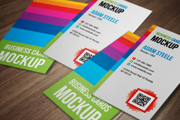 25 free psd templates to mockup your print designs vertical business cards mockup reheart Image collections