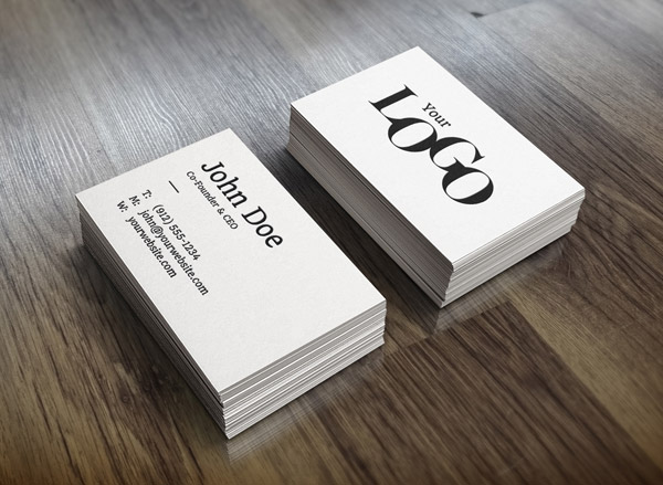 25 free psd templates to mockup your print designs realistic business card mockup reheart Images