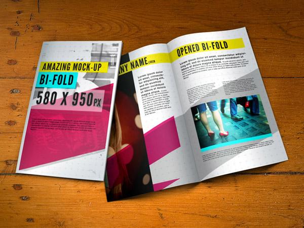 PSD Bifold Brochure Mockup Template