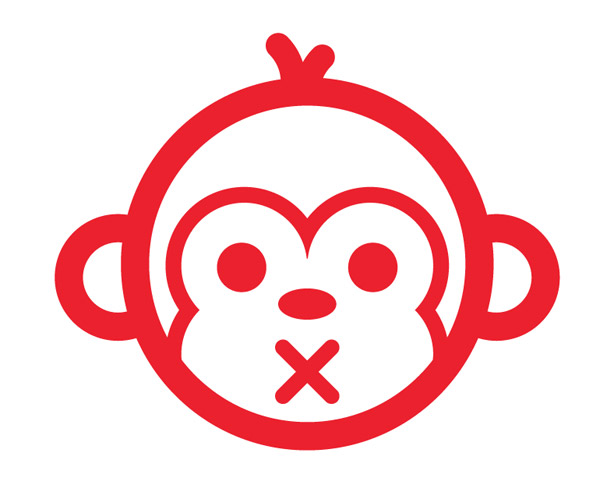 Vector monkey face