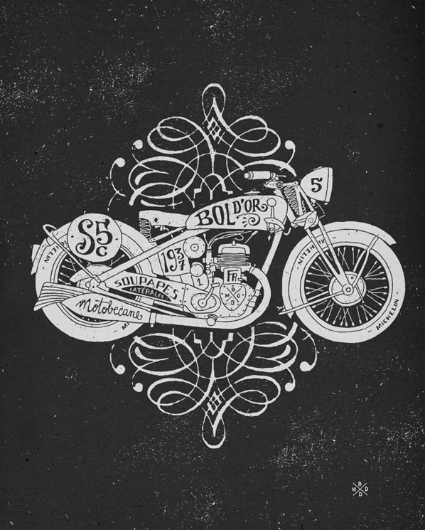 Motorcycle Illustration by BMD Design