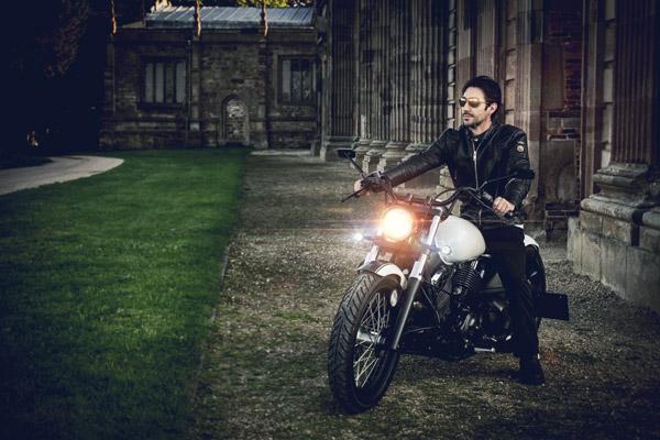 Chris Spooner on his motorcycle
