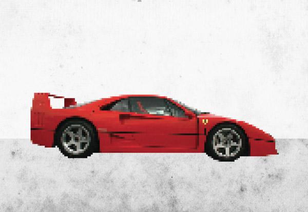 Pixel Art Ferrari F40