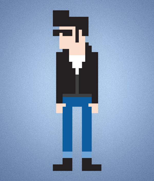 8-bit style pixel character