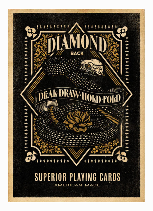 Diamondback Playing Cards by Aaron von Freter