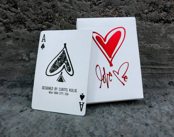 Love Me Playing Cards by Curtis Kulig