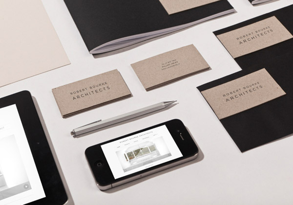 Robert Bourke Architects Stationery by TATABI Studio