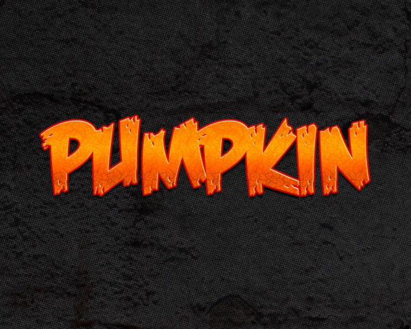 Pumpkin Text Effect by KoolGfx