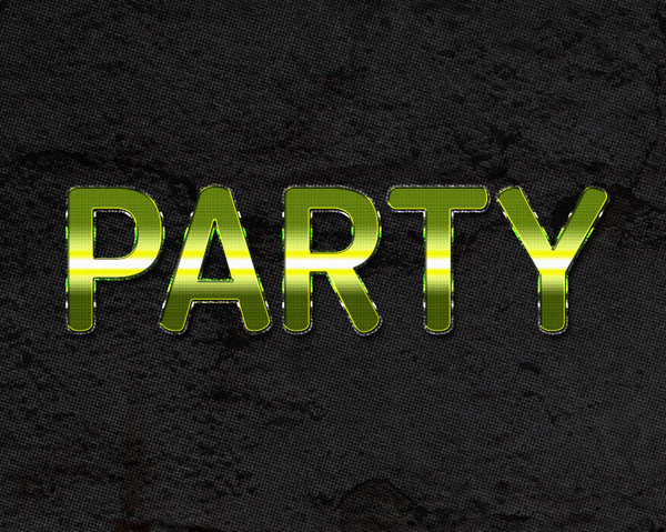 Free Photoshop Party Text Style by GraphicsFuel