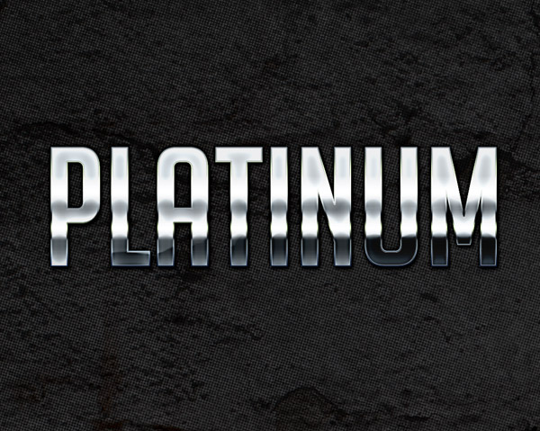 Platinum Metallic Photoshop Style by aanderr