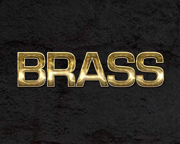 Brass Metallic Photoshop Style by aanderr