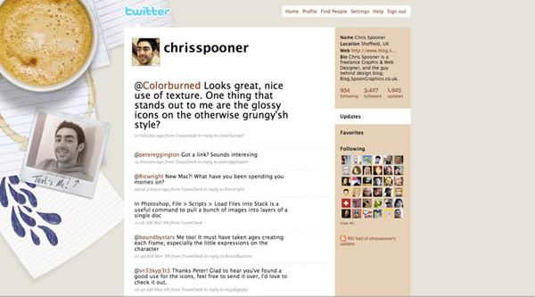 2009 Twitter background design