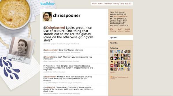 2009 Twitter background design