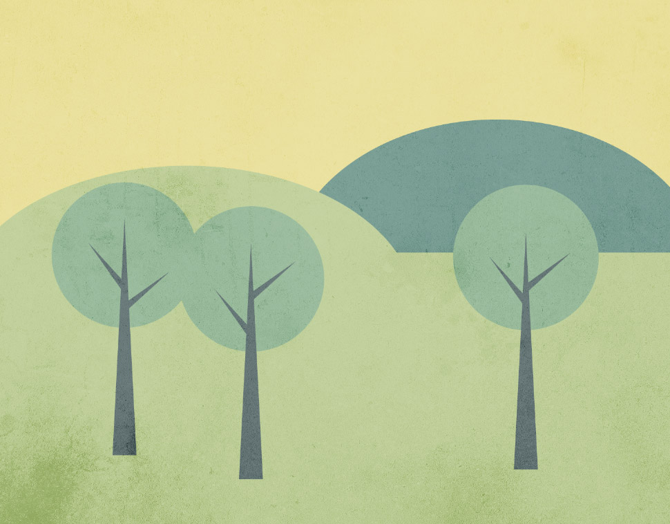 Shapes Designs Art : How to create a simple landscape scene in illustrator