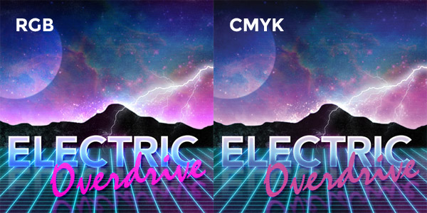 RGB CMYK Difference