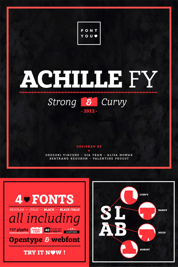 Achille font preview