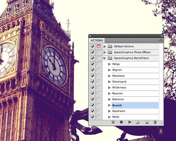 How to apply Photoshop Actions