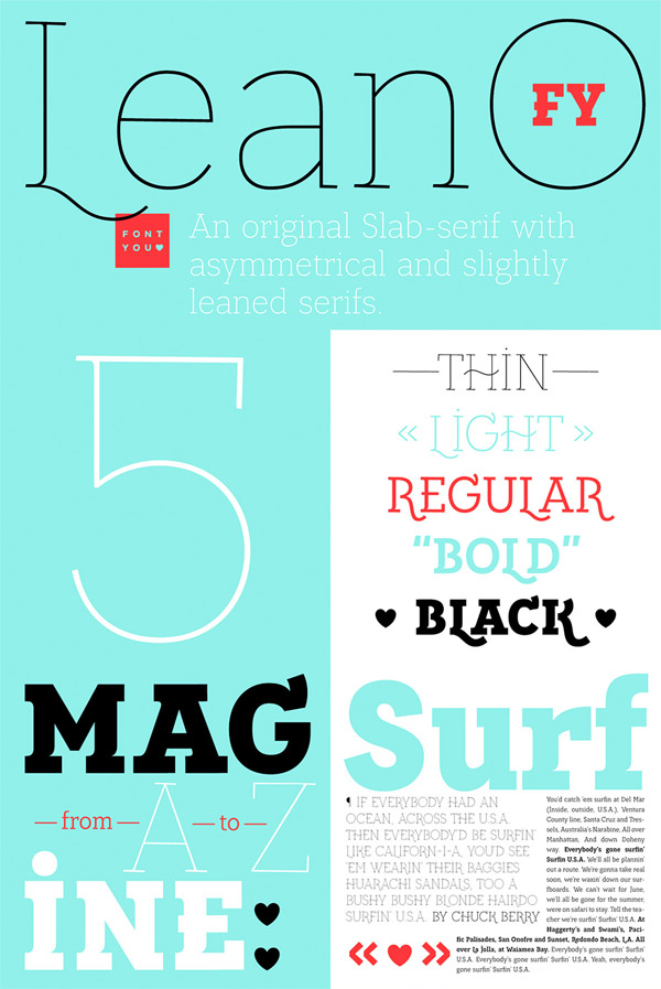 Leano font preview