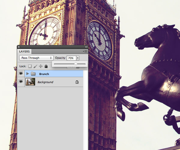 How to adjust Photoshop Action effect