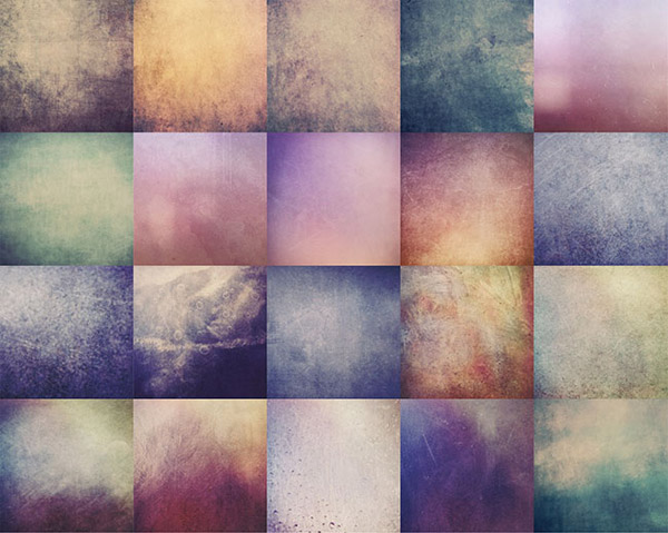 100 Colorful Grunge Textures