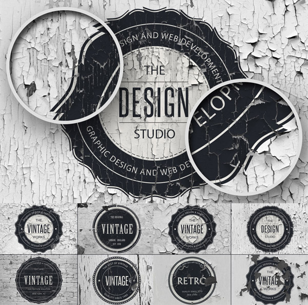 Vintage Overlay Textures from Design Something