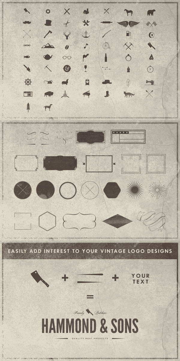 The Vintage Logo Elements Collection preview