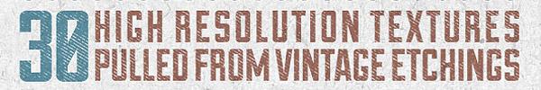 Vintage Etchings Texture Pack for Premium Members