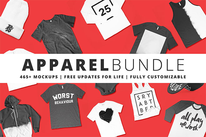465+ Apparel Mockups Bundle