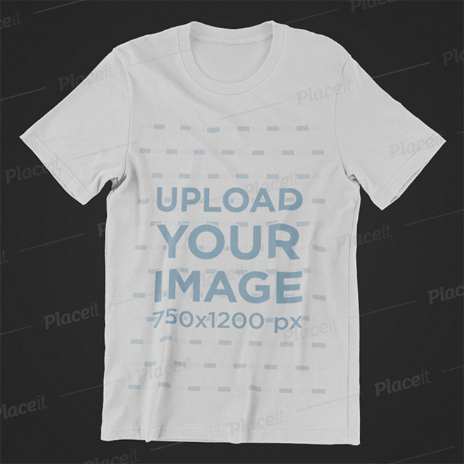 Mockup of a T-Shirt Placed over a Minimalist Surface