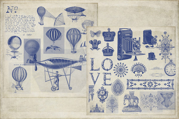 Vintage Ephemera Photoshop Brushes