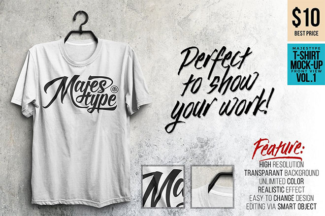 MJT Realistic T-Shirt Mock-Up