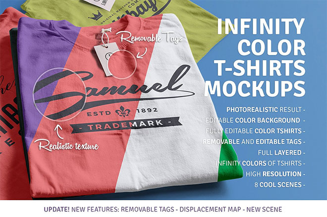 Infinity Color T-Shirt Mockups