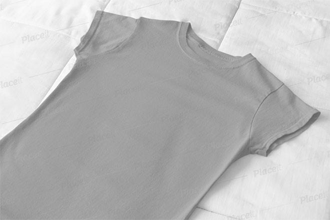 Flat Lay T-Shirt Mockup