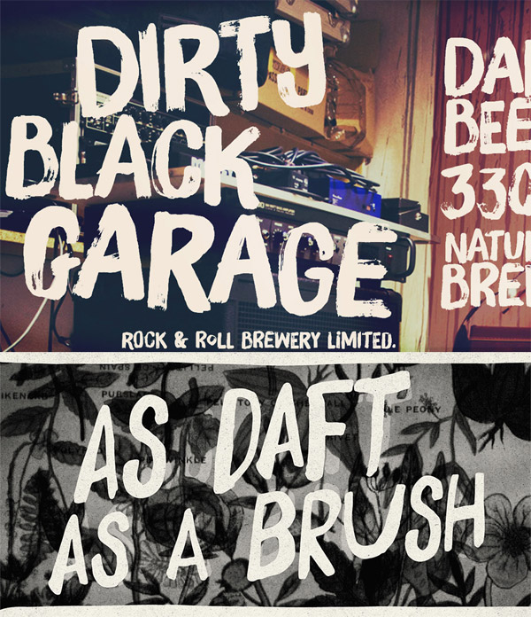 Brush Up and Daft Brush fonts