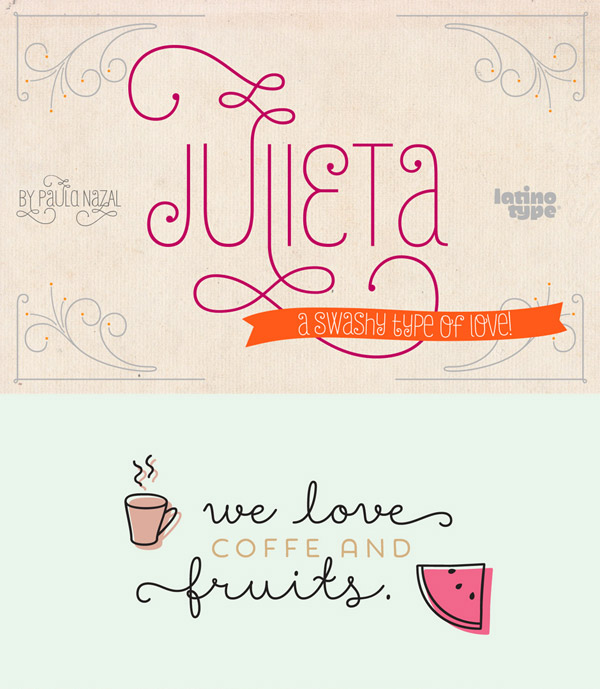 Julieta and Showcase fonts