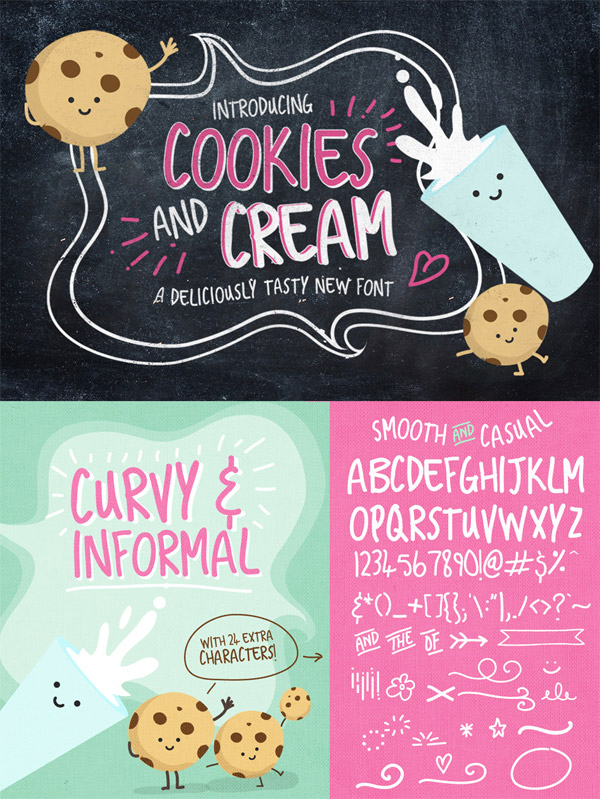 Cookies and Cream font preview