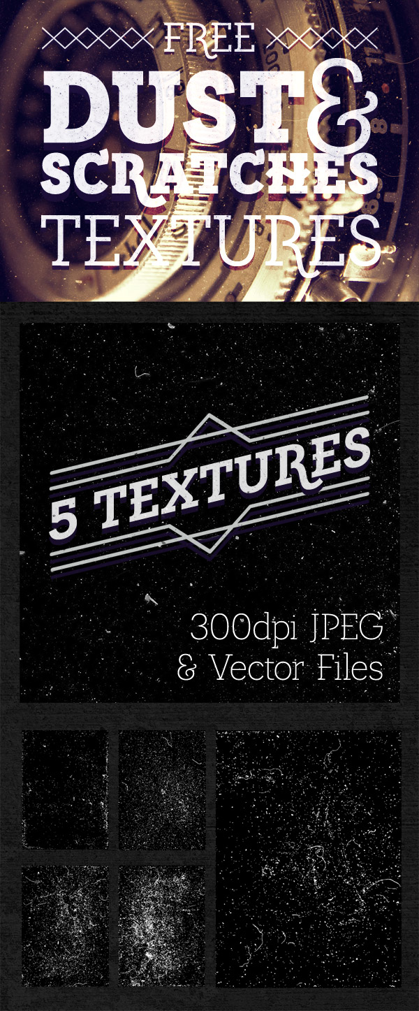 5 Dust Scratches Textures For Photoshop Illustrator