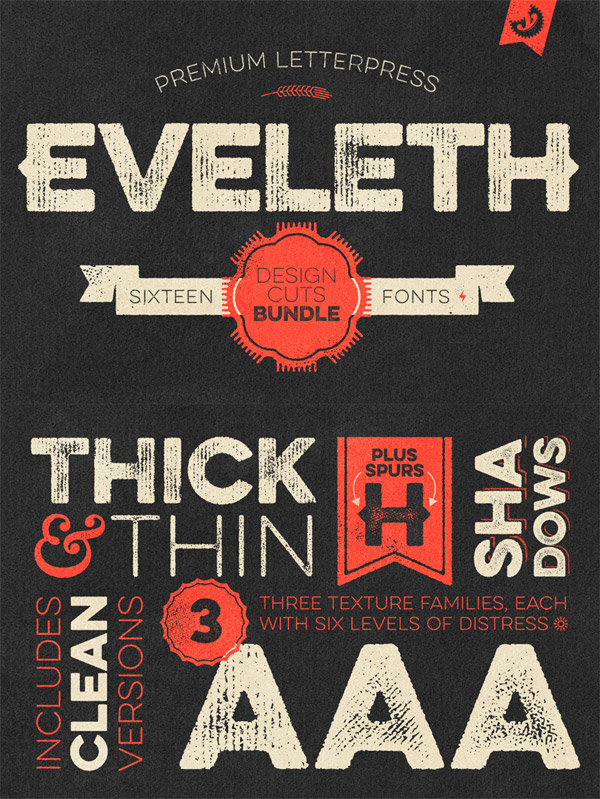 Eveleth font preview