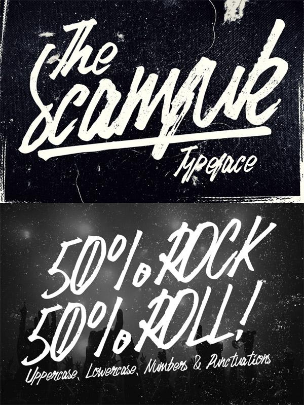 Scamfuk font preview