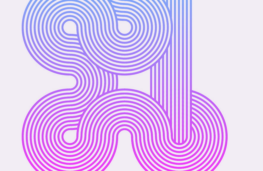 Line Art In Illustrator : How to create geometric stripy line art in illustrator