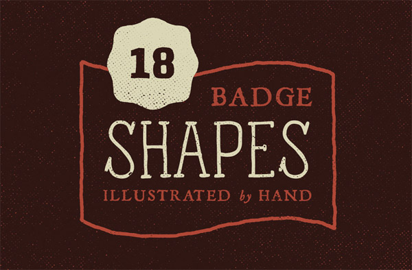 Illustrated badge shapes