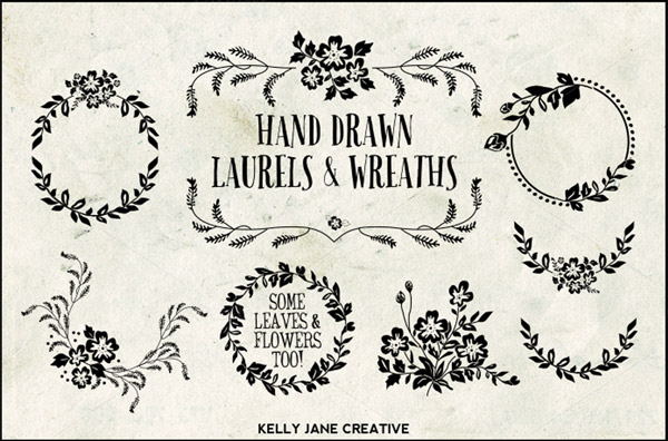Hand drawn laurels
