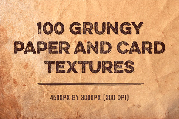100 Grungy Paper and Card Textures